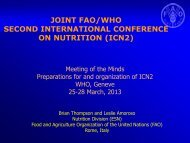 The International Conference on Nutrition 2013-14 - UNSCN
