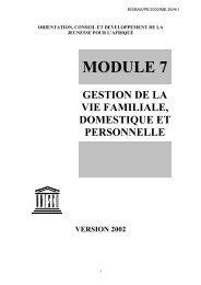 gestion de la vie familiale, domestique et ... - unesdoc - Unesco