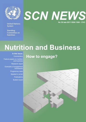 Nutrition and Business: How to engage? - UNSCN