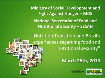 """Nutrition Transition and Brazil's experiences regarding ... - UNSCN"