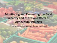Monitoring and Evaluating the Food Security and Nutrition ... - UNSCN