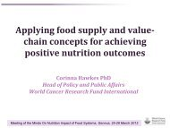 Applying food supply and value- chain concepts for ... - UNSCN