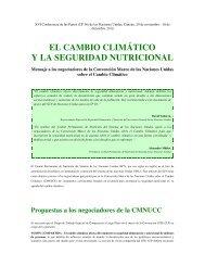 EL CAMBIO CLIMÁTICO Y LA SEGURIDAD NUTRICIONAL - FAO.org