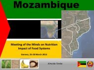 Scaling Up Nutrition in Mozambique - UNSCN