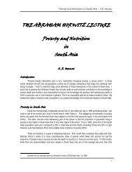 first Dr Abraham Horwitz Memorial Lecturer, Siddiq R ... - UNSCN