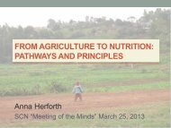 from agriculture to nutrition: pathways and principles - UNSCN