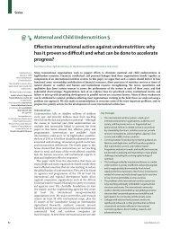 Maternal and Child Undernutrition 5 Effective international ... - UNSCN