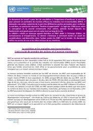 La nutrition et les maladies non transmissibles - UNSCN