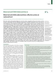 Maternal and Child Undernutrition 4 Maternal and child ...