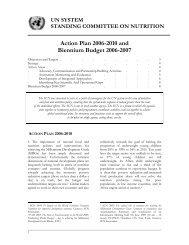 SCN Action Plan - UNSCN
