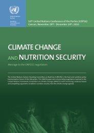 Climate Change & Nutrition Security - UNSCN