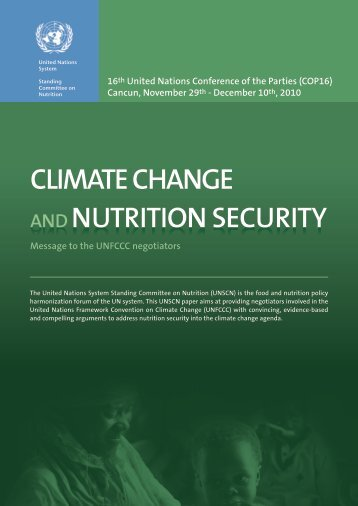 Climate Change & Nutrition Security - UNSCN