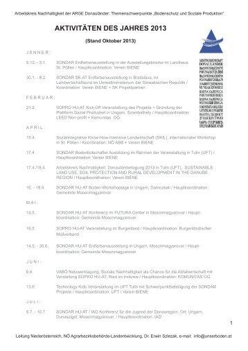 Rückblick Aktivitäten des Jahres 2013 (pdf) - Unser Boden
