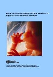 pour un developpement optimal du fœtus - World Health Organization