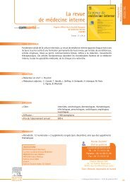 La revue de médecine interne - Communication Santé par Elsevier ...