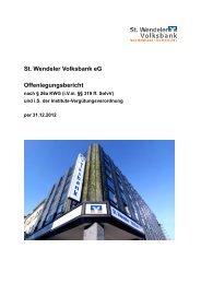 Offenlegungsbericht per 31.12.2012 - St. Wendeler Volksbank eG