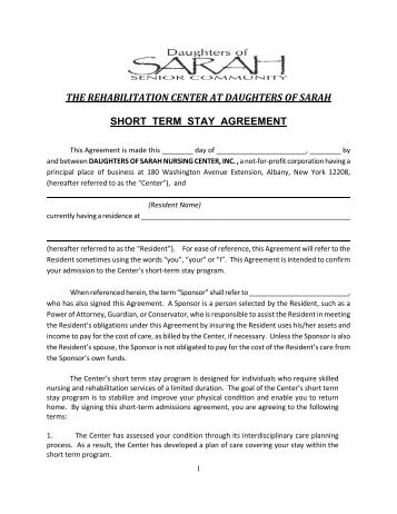 Attachments B E Standard Admission Agreement California