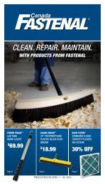 Clean. RepaiR. Maintain. WITH PRODUCTS FROm FASTENAL
