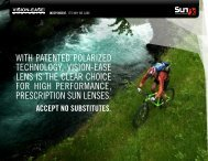 WITH pATEnTEd polARIzEd TECHnologY, VISIon-EASE lEnS IS ...