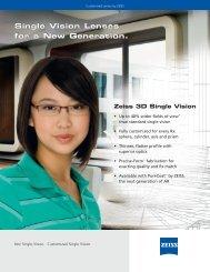 Single Vision Lenses for a New Generation. Single Vision Lenses ...