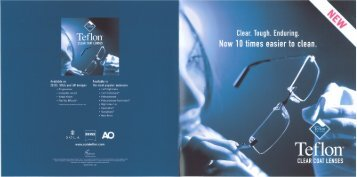 CLEAR COAT LENSES - Robertson Optical Laboratories