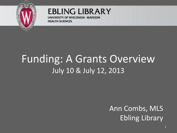 Workshop slides - Ebling Library