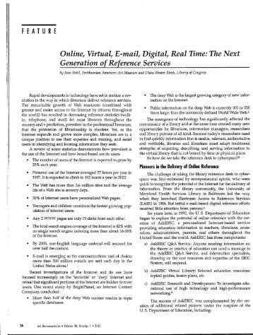Online, Virtual, E-mail, Digital, Real Time: The Next ... - CiteSeerX