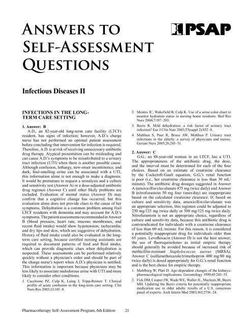 Answers to Self-Assessment Questions - ACCP