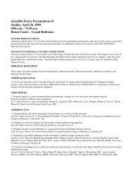 Scientific Poster Presentations II Sunday, April 26, 2009 8 ... - ACCP