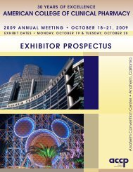 Download Exhibitor Prospectus - ACCP