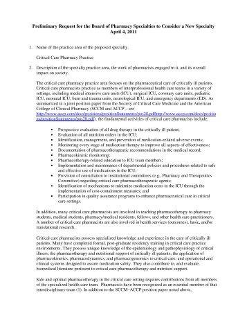 Critical Care Pharmacy Practice - ACCP