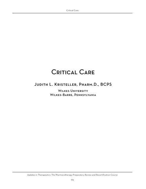 Critical Care - ACCP