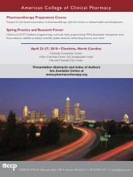 Presentation Abstracts and Index of Authors Are Available ... - ACCP