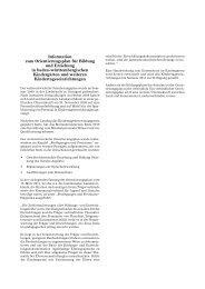 Information zum Orientierungsplan für Bildung und Erziehung in ...