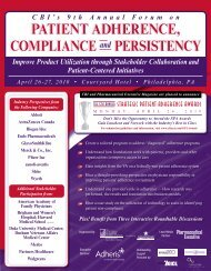 PAtient Adherence, comPliAnce and PerSiStency - CBI