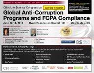 Global Anti-Corruption Programs and FCPA Compliance - CBI