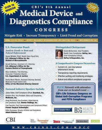 Medical Device and Diagnostics Compliance - CBI
