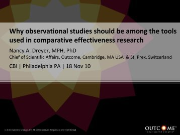 Why observational studies should be among the tools used in ... - CBI