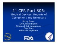 21 CFR Part 806: - CBI