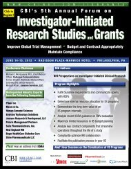 Investigator-Initiated Research Studiesand Grants Investigator ... - CBI