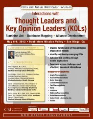 Thought Leaders and Key Opinion Leaders (KOLs) - CBI