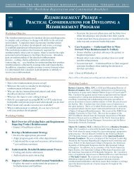 reimbursement primer – practical considerations for ... - CBI