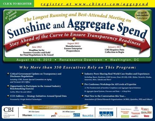 Sunshine and Aggregate Spend Sunshine and Aggregate Spend - CBI