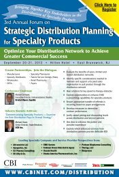 Optimize Your Distribution Network to Achieve Greater ... - CBI