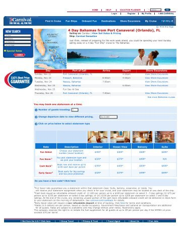 Carnival Cruise Lines - City Tours and Travel