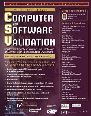 Computer Software Validation - CBI