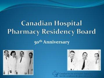 CHPRB - Canadian Society of Hospital Pharmacists