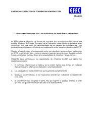 Condiciones Particulares EFFC de las obras de los especialistas de ...
