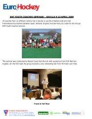 ehf youth coaches seminar – seville 9-13 april 2009 - Eurohockey