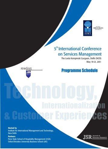 Programme Schedule -Sconf2011 V13 - Jsr-iimt.in